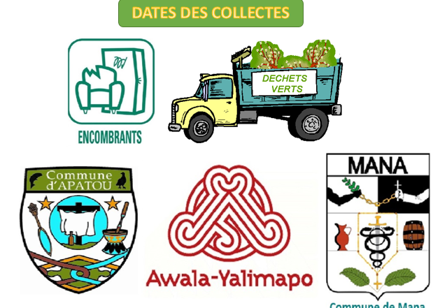 Dates de collecte Mana Apatou Awala