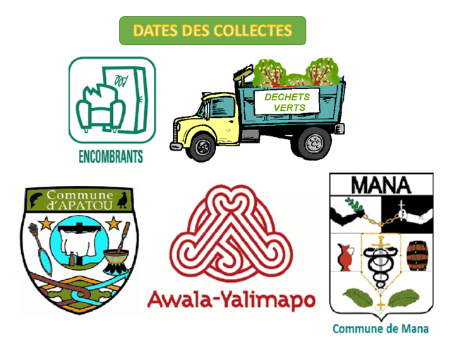 Dates de collecte Mana Apatou Awala