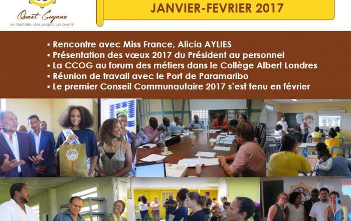 Newsletter n°4 Janvier-Février 2017