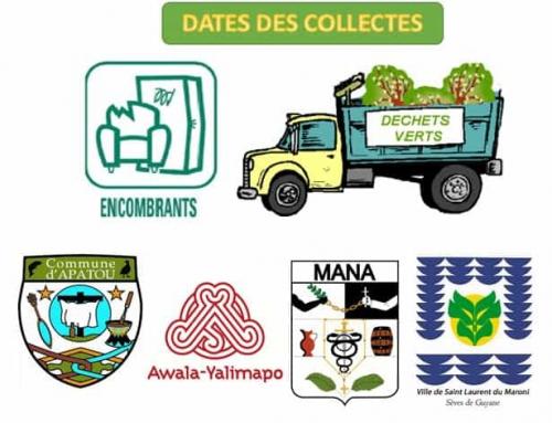 Planning de collecte des encombrants et déchets verts pour le mois de Avril 2018