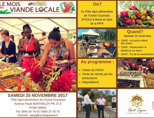 Journée portes ouvertes au Pôle Agro-alimentaire le samedi 25 novembre à Mana