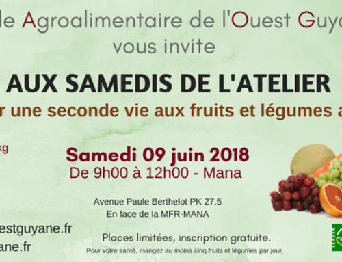 Invitation aux Samedis de l'Atelier – 9 juin 2018