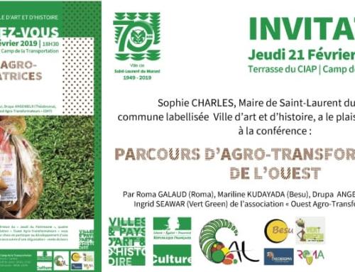 Conférence-débat « Parcours d'Agro-transformatrices de l'Ouest » au CIAP