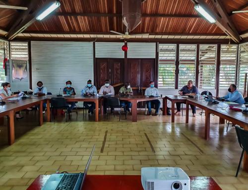 La Présidente de la CCOG a conduit une délégation à la rencontre des Maires des 3 Communes du Haut Maroni